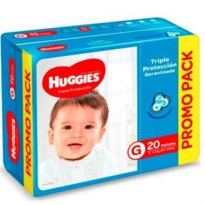 Pañal Huggies Triple Protección G 20