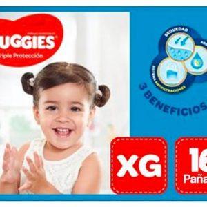 Pañal Huggies Triple Protección XG 16