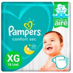 Pañal Pampers Confort Sec XG 16