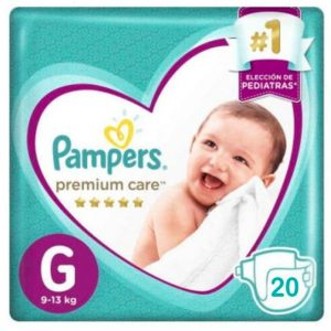 Pañal Pampers Premium Care G 20