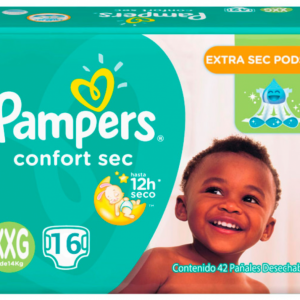 Pañal Pampers Confort Sec XXG 16