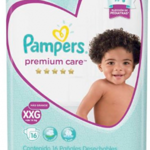Pañal Pampers Premium Care XXG 16