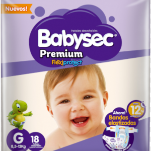Pañal Babysec Premium G 18