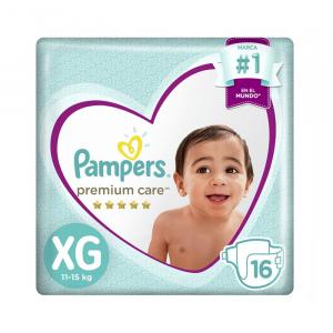 Pañal Pampers Premium Care XG 16