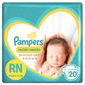 Pañal Pampers Premium Care RN 20