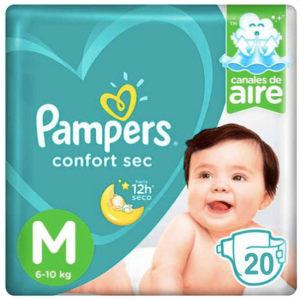 Pañal Pampers Confort Sec M 20