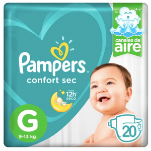 Pañal Pampers Confort Sec G 20